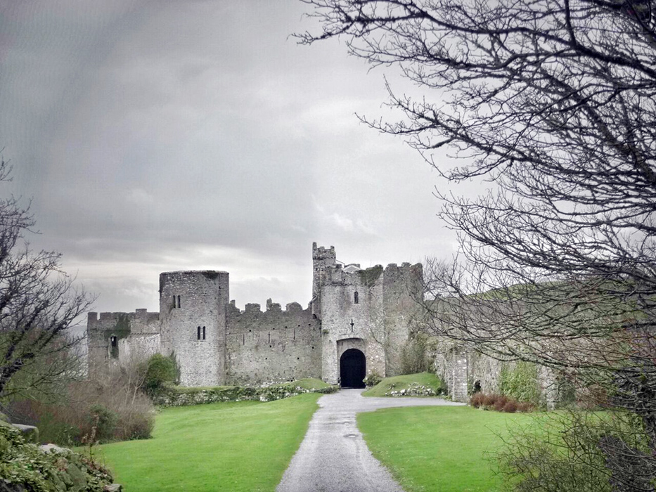 MANORBIER CASTLE, WALES. This old castle ruin in my husband's family's neighbourhood, Manorbier, is where we got married. Fun fact: The original movie, The Lion, The Witch And The Wardrobe, was filmed here, and my husband had some fun as a kid harrying the cast.