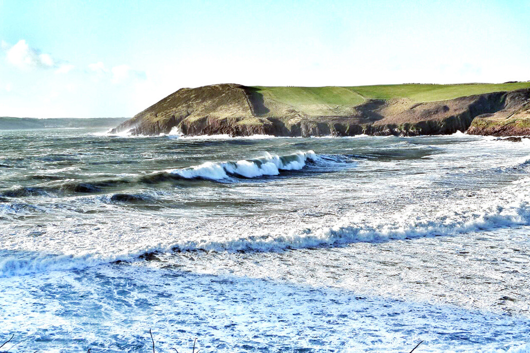 MANORBIER BEACH, WALES. The beach less travelled is what I call this place. I love it here because of its untouched beauty. Listening to the sound of its waves soothes my soul.